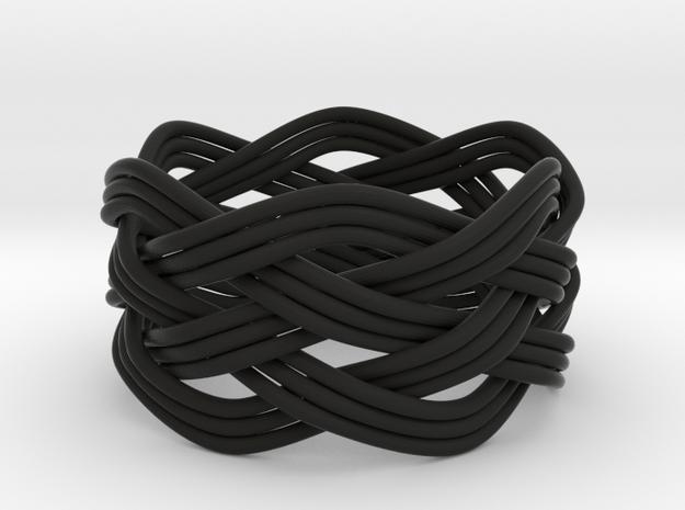 Turk's Head Knot Ring 5 Part X 6 Bight - Size 13.2 3d printed