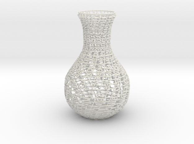 Thank You Vase in White Natural Versatile Plastic