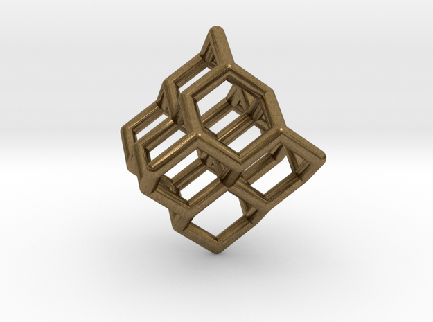 Diamond structure (tiny) 3d printed