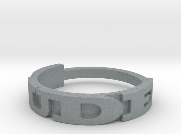 DUDE ring Size 9.5 3d printed