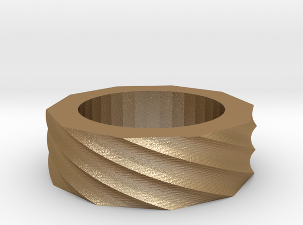 Spiral Ring Size 8 3d printed
