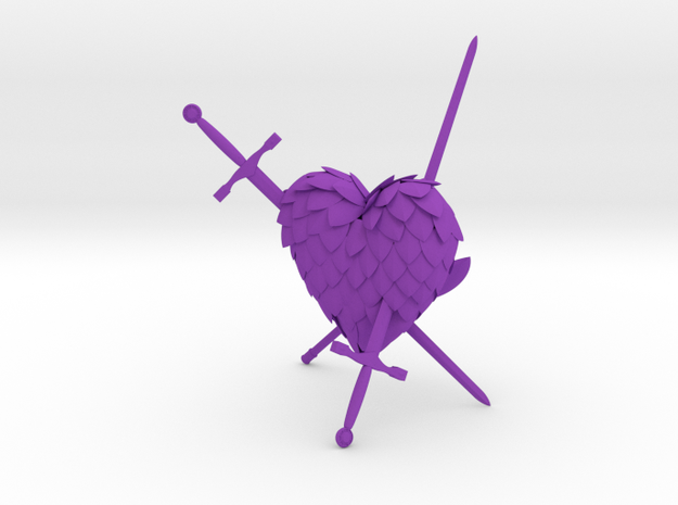 Defeated Heart 3d printed