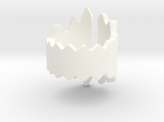 Waves Ring (Size 16) 3d printed