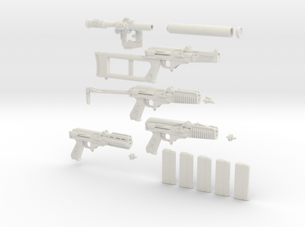 1/6 scale Russian VSK-94 9A91 Detail Plastic 3d printed