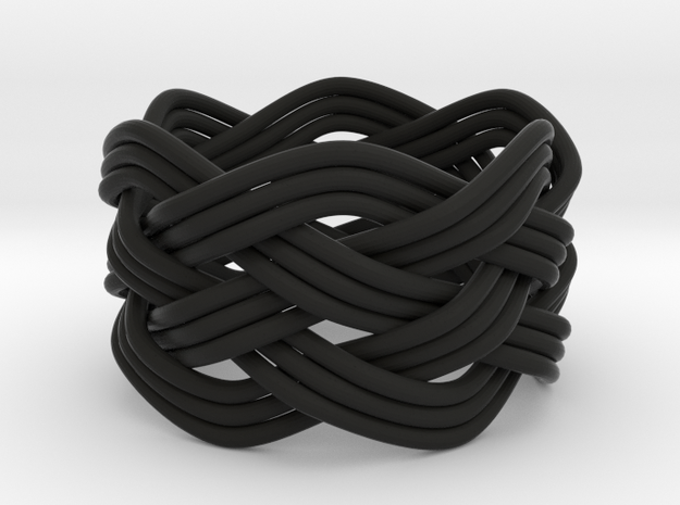 Turk's Head Knot Ring 5 Part X 6 Bight - Size 7 3d printed