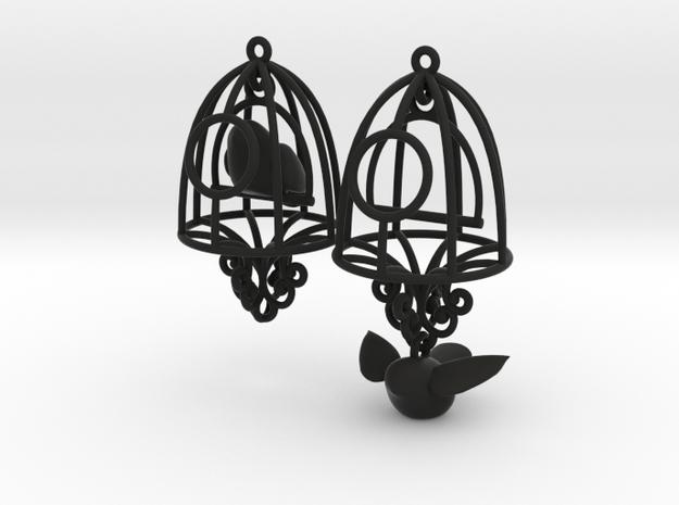 Bird in a Cage Earrings 04