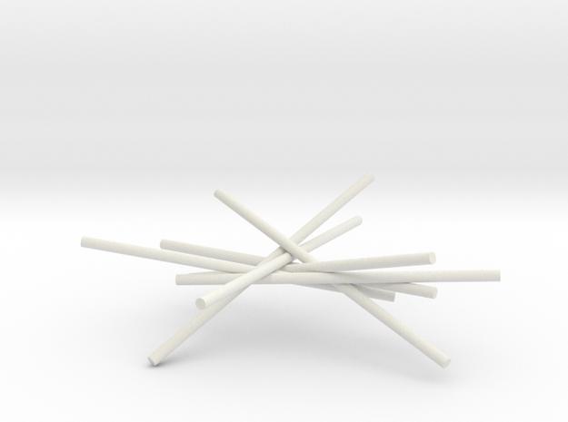 7cyl 5p30 X 1p5 in White Natural Versatile Plastic