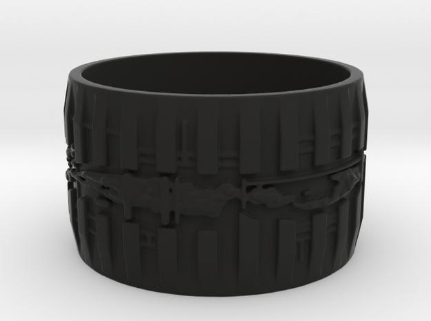 Bio Mech Ring #1, Ring Size 8.5 3d printed