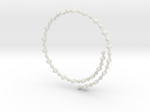 Flexible Frustrated Chain Bracelet in White Natural Versatile Plastic