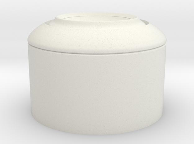 RAM TB EAR 85mm in White Natural Versatile Plastic