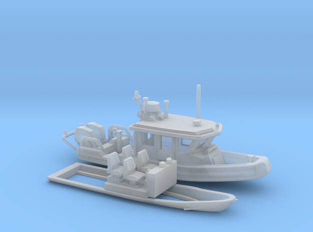 Defender 250 Rigid Inflatable Boat (1:148) 3d printed