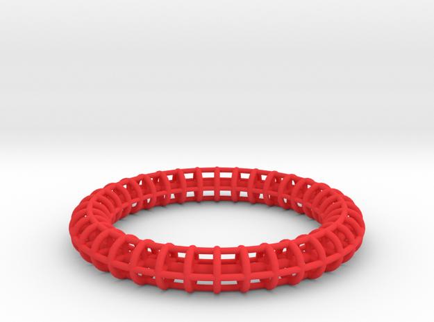 Bangle Bracelet Ribbed 3d printed