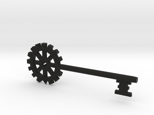 Gear Key in Black Natural Versatile Plastic