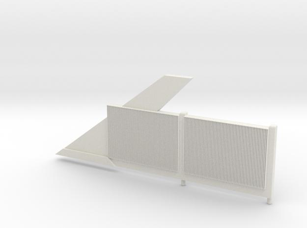Beton-Schallschutzwand Mit Anfangselement Links-V3 in White Natural Versatile Plastic