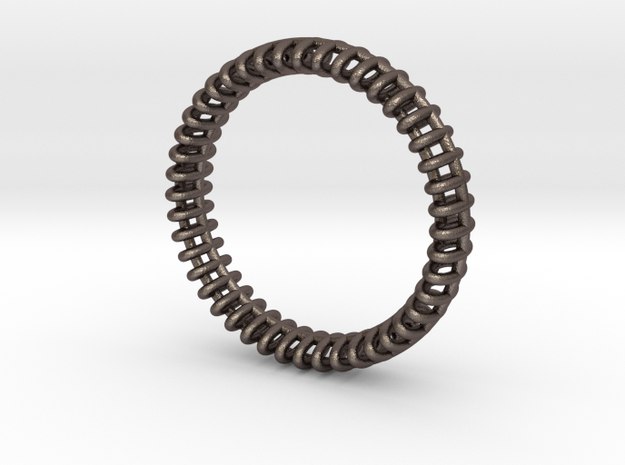 "VORTEX ONE -   ""19,5mm"" - ""61mm"" - ""S"" - ""8-"" in Polished Bronzed Silver Steel"