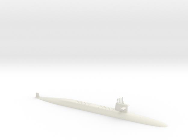 1/700 Le Triomphant Class SSBN (Waterline) in White Natural Versatile Plastic