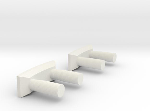 Buffers for Decauville Autorail - DXW Nm 1:160 in White Natural Versatile Plastic