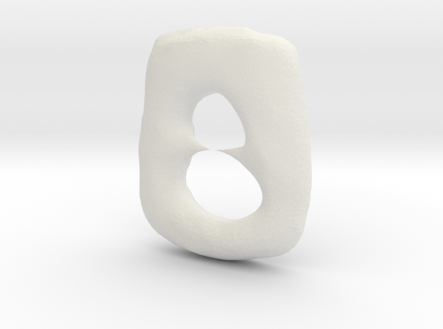 Oval With Points 3d printed