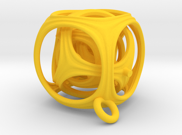 Gyro The Cube (XS) (Ring + Pattern) 3d printed