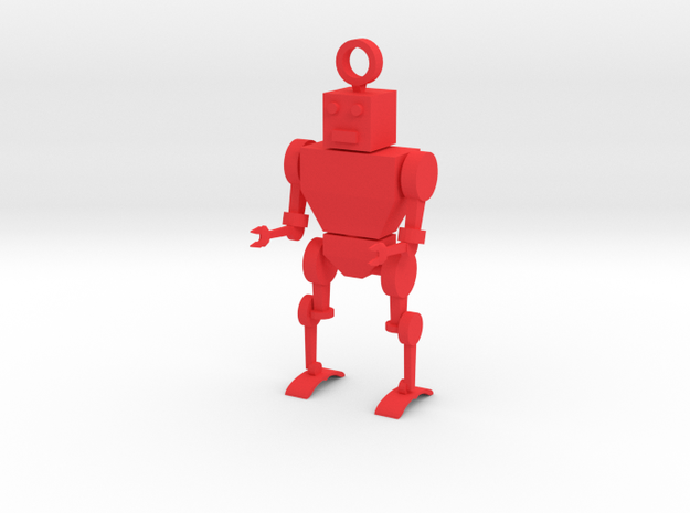 Toy Robot Key Chain 3d printed
