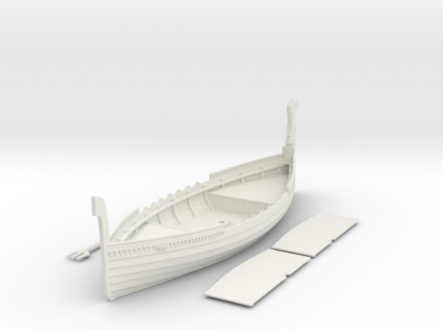 Russian Warship, with full deck and no shields 3d printed