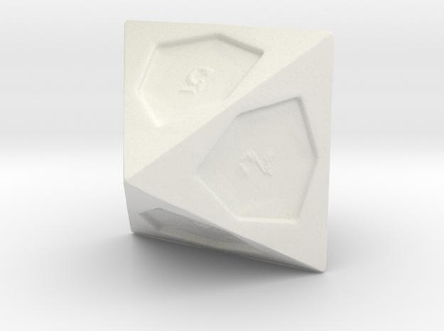 D8 in White Natural Versatile Plastic