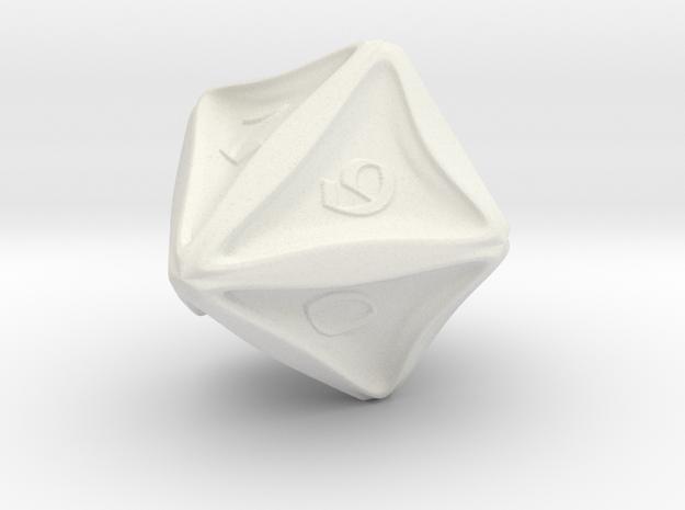 D10 in White Natural Versatile Plastic