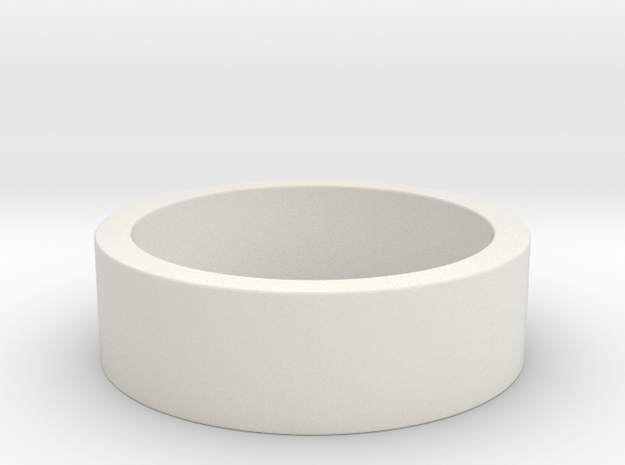 My Awesome Ring Design Ring Size 8 in White Natural Versatile Plastic