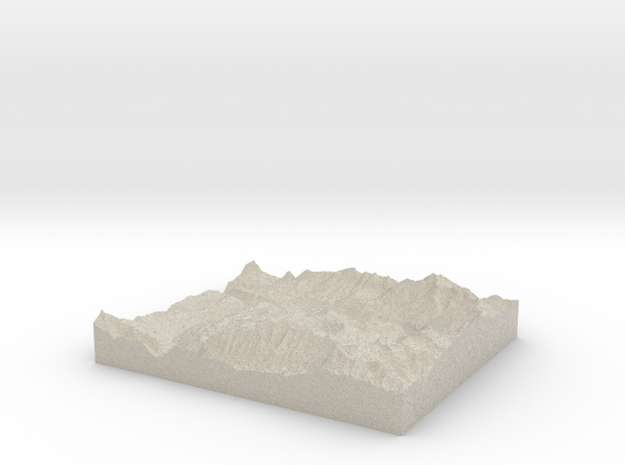 Model of Mountain Village 3d printed