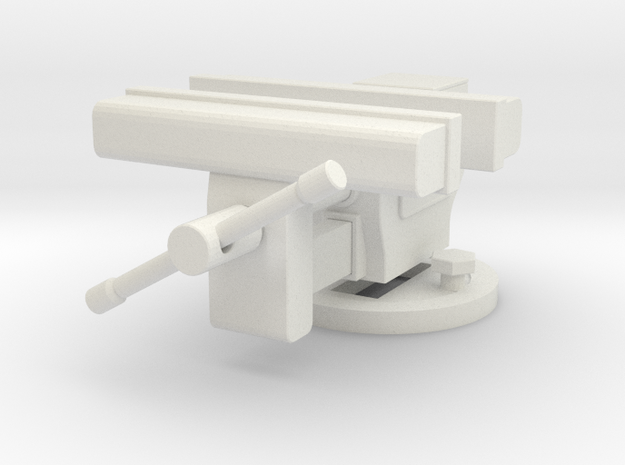 1/10 Scale Benchtop Vice in White Natural Versatile Plastic