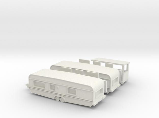 2 Tandemwohnwagen 8 m - 1:160 (n scale) 3d printed