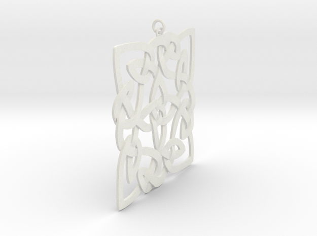 Celtic Pendent 3a in White Natural Versatile Plastic