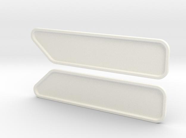 KW Standup Bunk Cap Windows (S) in White Processed Versatile Plastic