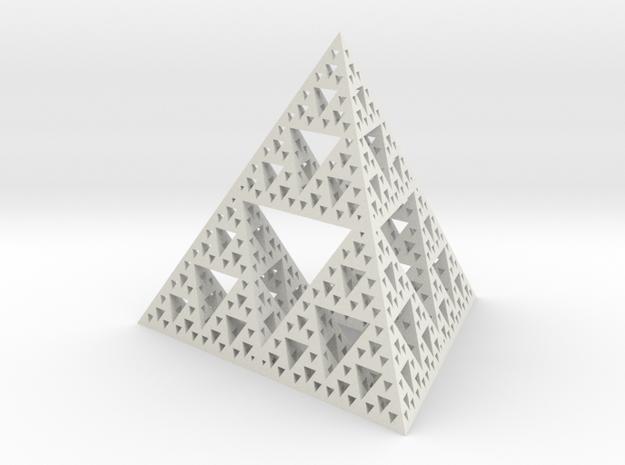 Large Sierpinski tetrix in White Strong & Flexible