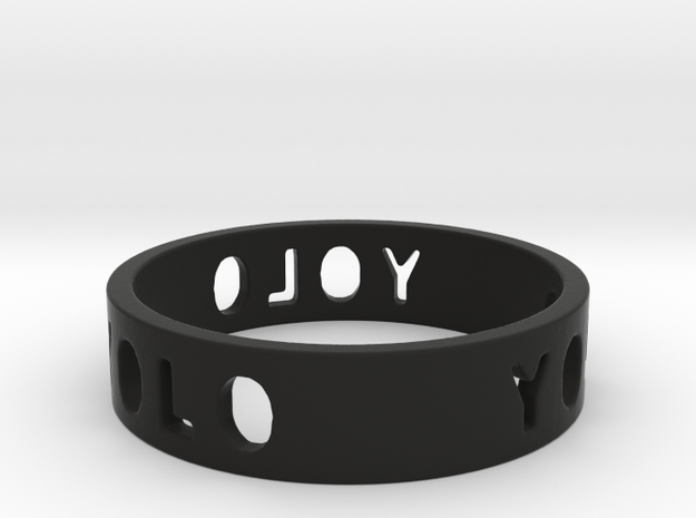YOLO TYPE 2, Size 6 Ring Size 6 3d printed