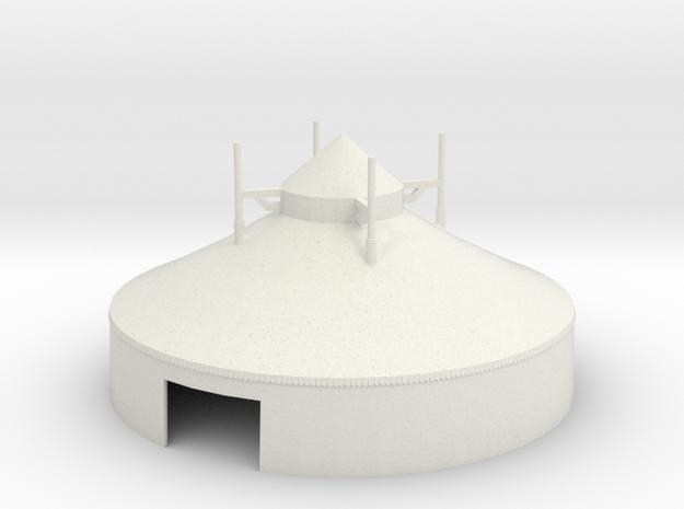 Zelt - 16 Meter - 1:160 (n scale) in White Strong & Flexible