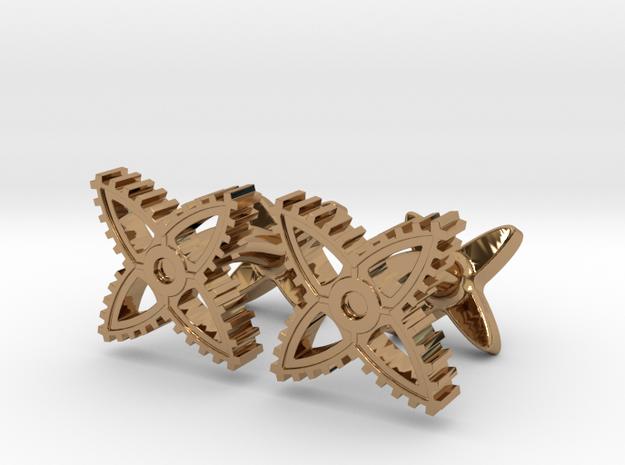 X-Gear Cufflinks 3d printed
