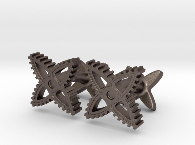 X-Gear Cufflinks 3d printed