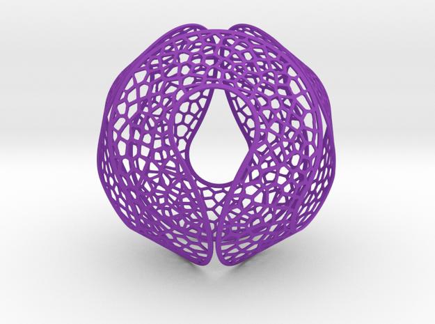 Spherocircles in Purple Processed Versatile Plastic