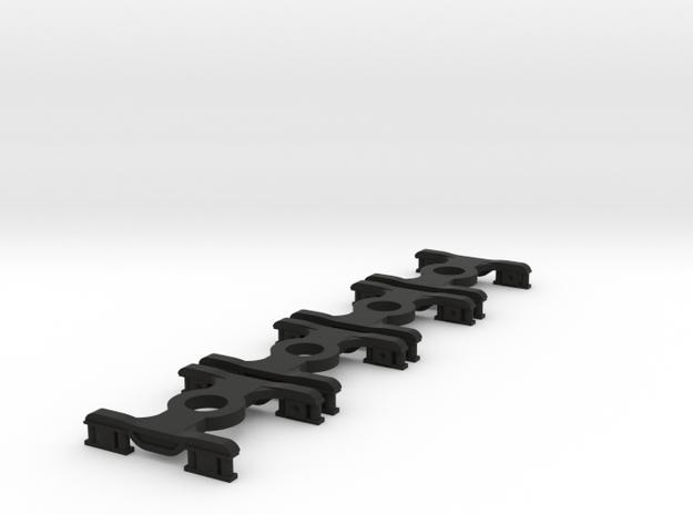 4 * FEA-B/E/F/S Bogies N Gauge 1:148 in Black Natural Versatile Plastic