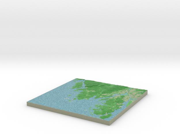 Terrafab generated model Mon Oct 14 2013 20:10:35 3d printed