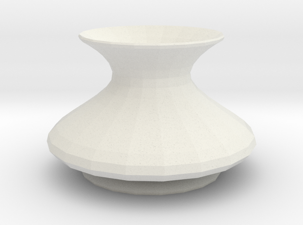 asgardian vase in White Natural Versatile Plastic