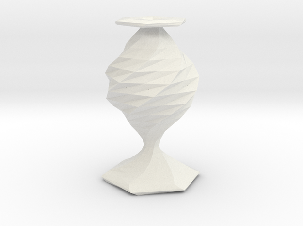 twisted flower  vase in White Natural Versatile Plastic