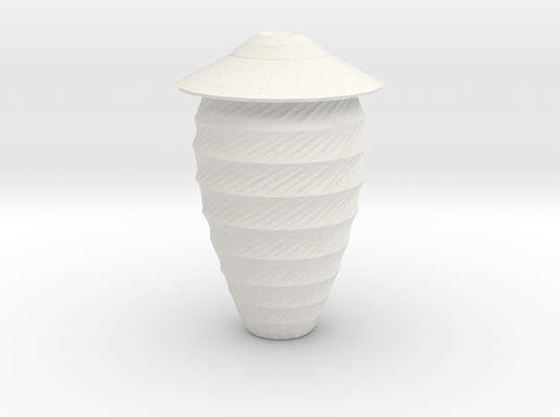 twisted shield vase in White Strong & Flexible