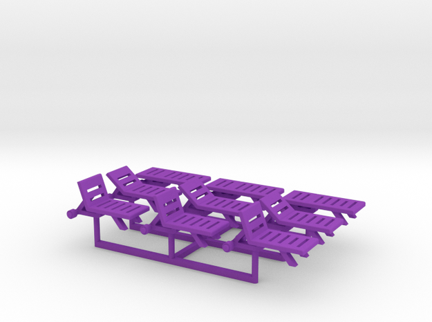 Pool Chairs, N-Scale 1:160 (9 pieces) 3d printed