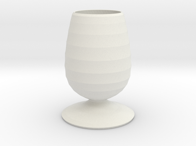 greedy smurf vase  in White Natural Versatile Plastic