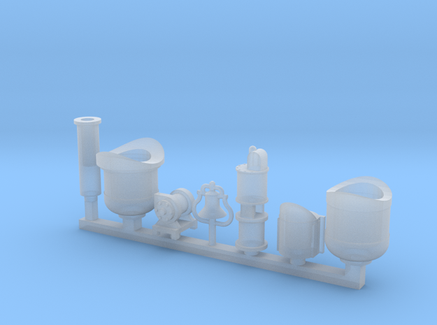 Detail parts for 2-6-0 loco conversion [set A] 3d printed
