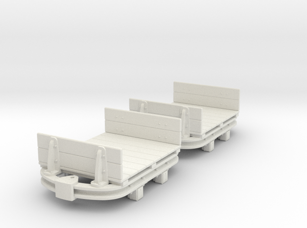 55n2 skip Flat with low Ends  in White Natural Versatile Plastic