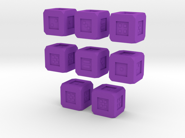 Weighted Dice Set 3d printed