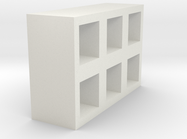 Modern shelves in White Natural Versatile Plastic